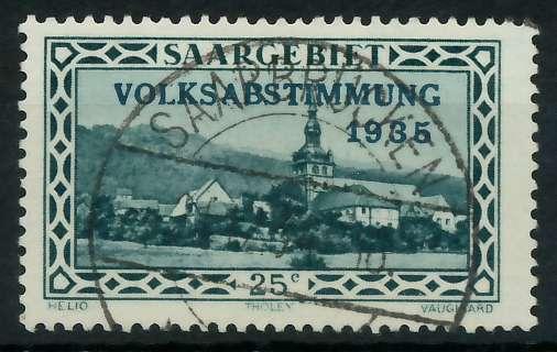 SAARGEBIET 1934 Nr 182 zentrisch gestempelt 830142