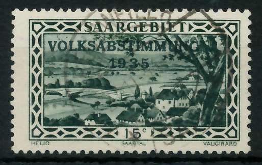 SAARGEBIET 1934 Nr 180 zentrisch gestempelt 830146