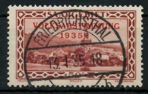 SAARGEBIET 1934 Nr 185 zentrisch gestempelt 83014A