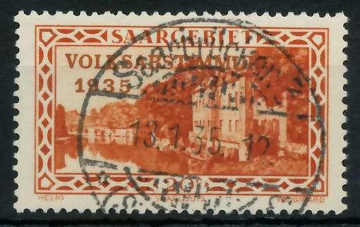 SAARGEBIET 1934 Nr 181 zentrisch gestempelt 83014E