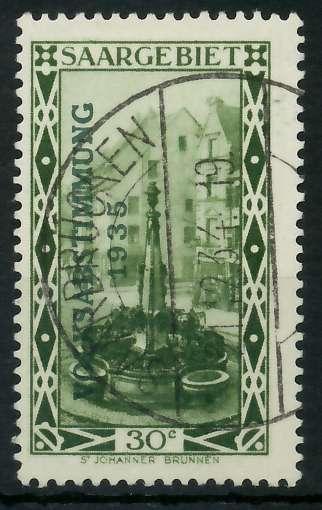 SAARGEBIET 1934 Nr 183 zentrisch gestempelt 830152