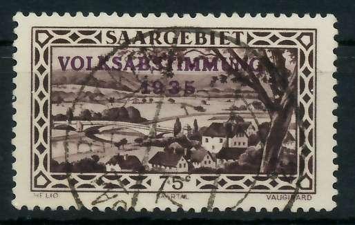 SAARGEBIET 1934 Nr 187 zentrisch gestempelt 830156