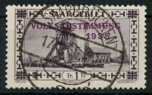 SAARGEBIET 1934 Nr 189 zentrisch gestempelt 83015A