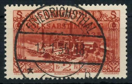 SAARGEBIET 1934 Nr 191 zentrisch gestempelt 83015E