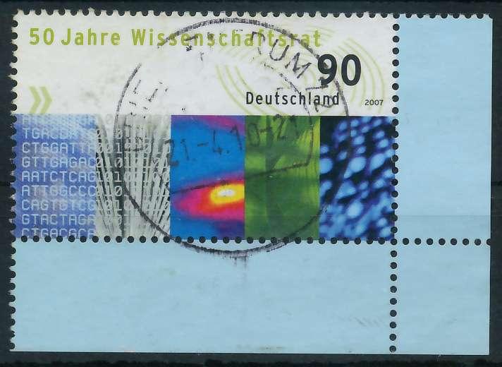 BRD 2007 Nr 2622 zentrisch gestempelt ECKE-ORE 846312
