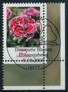 BRD DS BLUMEN Nr 2694 ESST zentrisch gestempelt ECKE-URE 84876A