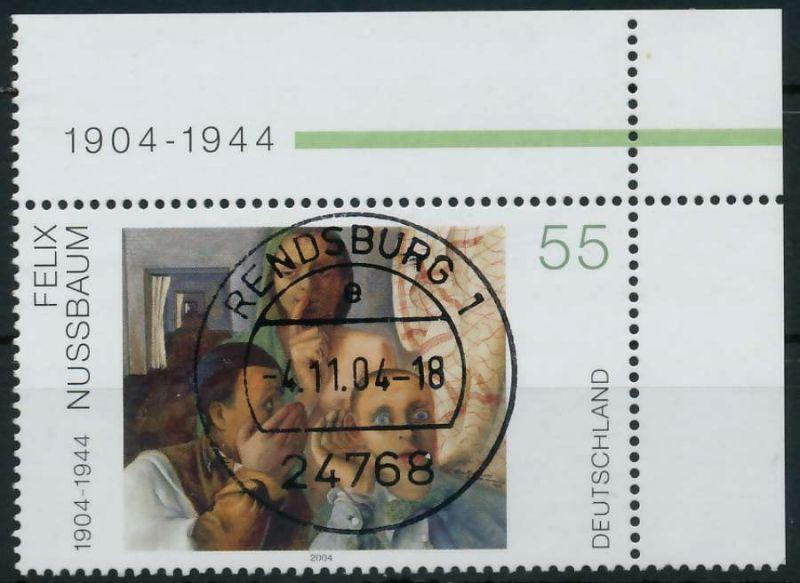 BRD 2004 Nr 2432 zentrisch gestempelt ECKE-ORE 84AAFA