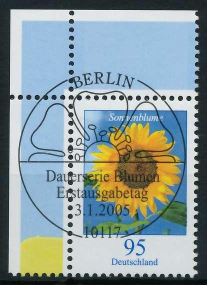 BRD DS BLUMEN Nr 2434 ESST zentrisch gestempelt ECKE-OLI 84AB1E