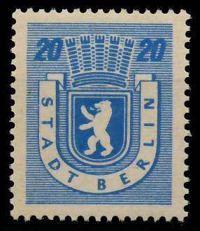 SBZ BERL. BRANDENB. Nr 6Awaz postfrisch 811516