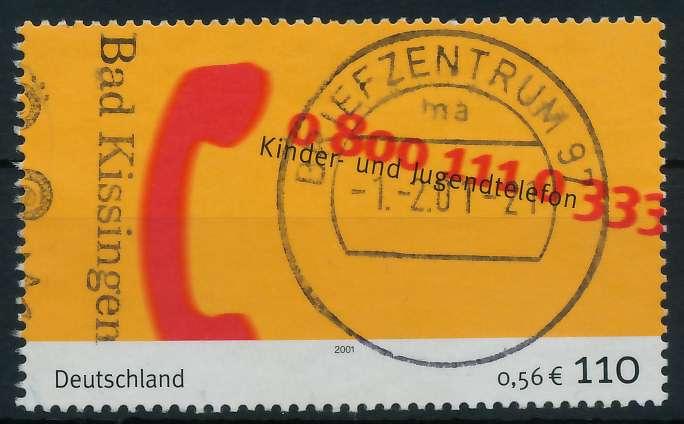 BRD 2001 Nr 2164 zentrisch gestempelt 84D4D2
