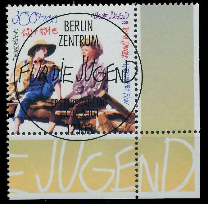 BRD 2001 Nr 2194 ESST zentrisch gestempelt ECKE-URE 84D4D6