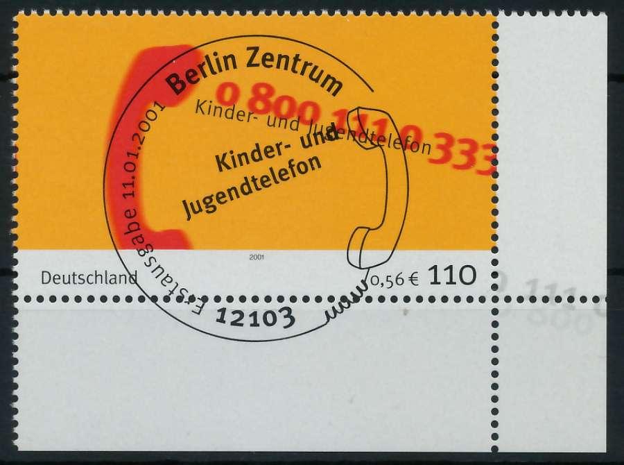 BRD 2001 Nr 2164 ESST zentrisch gestempelt ECKE-URE 84D4E2