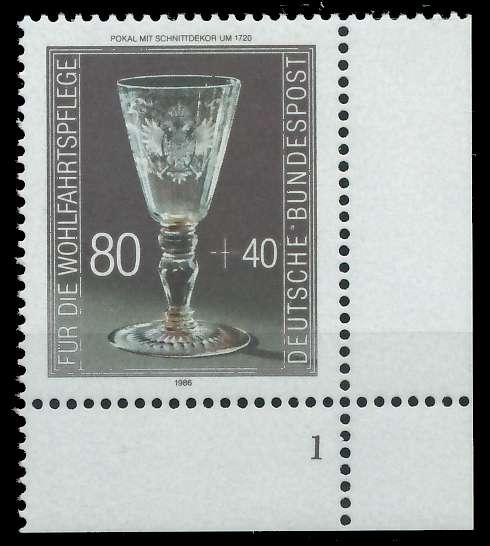 BRD 1986 Nr 1298 postfrisch FORMNUMMER 1 858E92