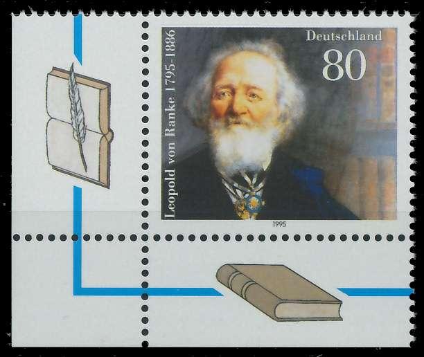 BRD 1995 Nr 1826 postfrisch ECKE-ULI S78791E