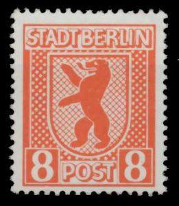 SBZ BERL. BRANDENB. Nr 3Aux postfrisch 64D226