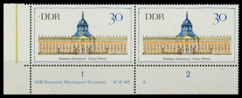 DDR 1968 Nr 1382DV-II postfrisch WAAGR PAAR ECKE-ULI 92E86A