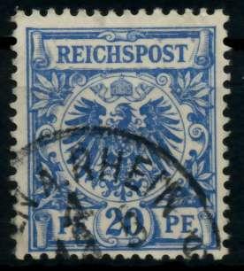 D-REICH KRONE ADLER Nr 48b gestempelt gepr. 726F36