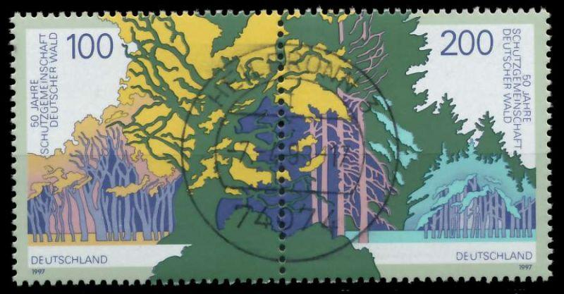 BRD ZUSAMMENDRUCK Nr 1918+1920 zentrisch gestempelt WAAGR PA 868D8E