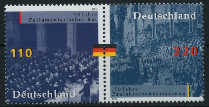 BRD ZUSAMMENDRUCK Nr 1986+1687 postfrisch WAAGR PAAR 86B242