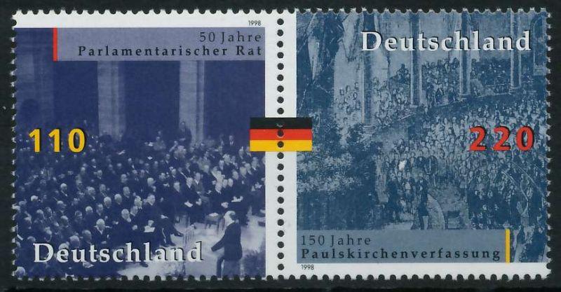 BRD ZUSAMMENDRUCK Nr 1986+1687 postfrisch WAAGR PAAR 86B24E