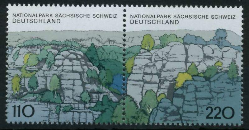 BRD ZUSAMMENDRUCK Nr 1997+1998 postfrisch WAAGR PAAR 86B31A