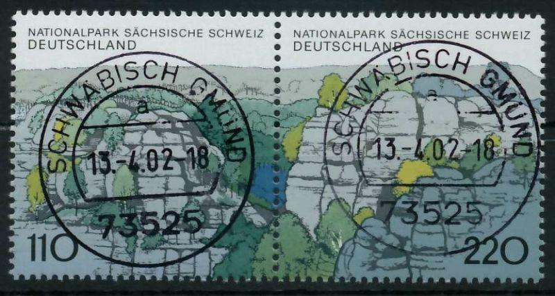 BRD ZUSAMMENDRUCK Nr 1997+1998 zentrisch gestempelt WAAGR PA 86B31E