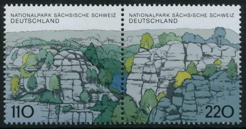 BRD ZUSAMMENDRUCK Nr 1997+1998 postfrisch WAAGR PAAR 86B32A