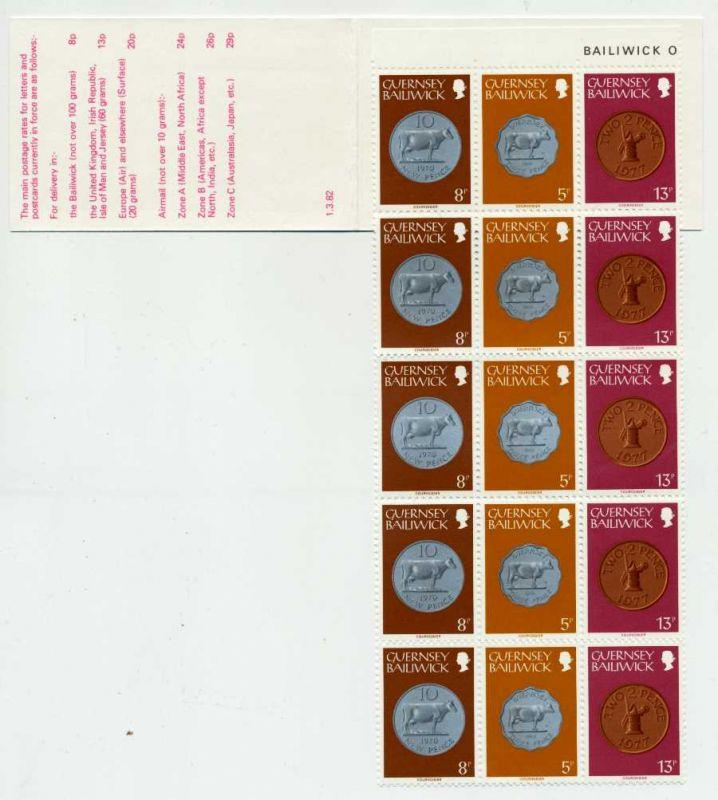 GUERNSEY MARKENHEFTCHEN Nr MH 17 postfrisch S019C12