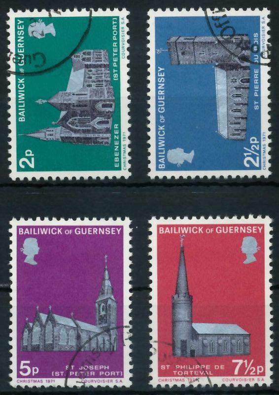 GUERNSEY 1971 Nr 58-61 gestempelt 87144E