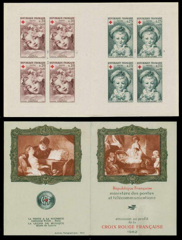 FRANKREICH MARKENHEFTCHEN Nr MH 1418a-1419a postfrisch S01A612