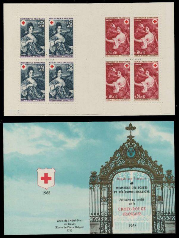 FRANKREICH MARKENHEFTCHEN Nr MH 1647-1648 postfrisch S019D92