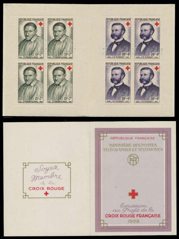 FRANKREICH MARKENHEFTCHEN Nr MH 1224-1225 postfrisch S01A602