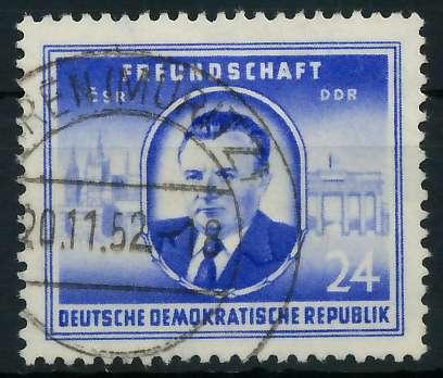 DDR 1952 Nr 302 gestempelt 87382E