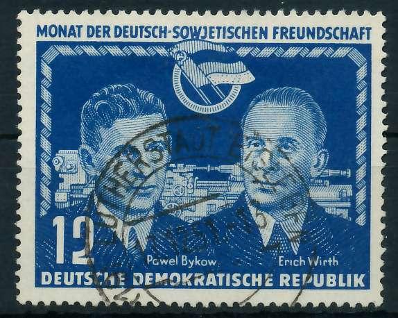 DDR 1951 Nr 296 zentrisch gestempelt 87383E