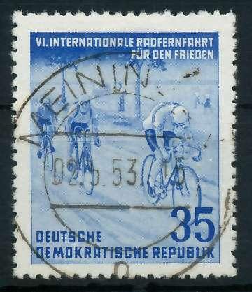 DDR 1953 Nr 356YI zentrisch gestempelt 873842