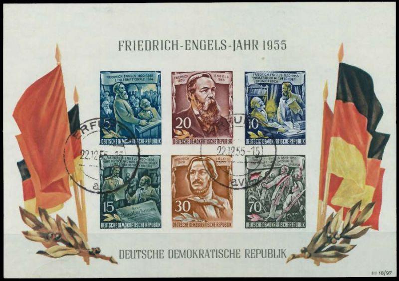 DDR BLOCK KLEINBOGEN Block 13 zentrisch gestempelt 87384E