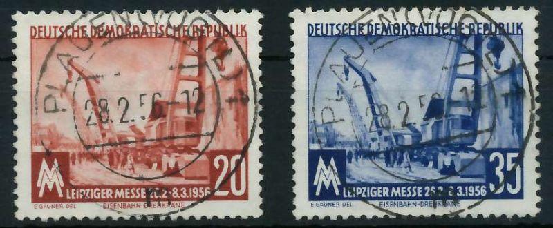 DDR 1956 Nr 518-519 zentrisch gestempelt 87589E