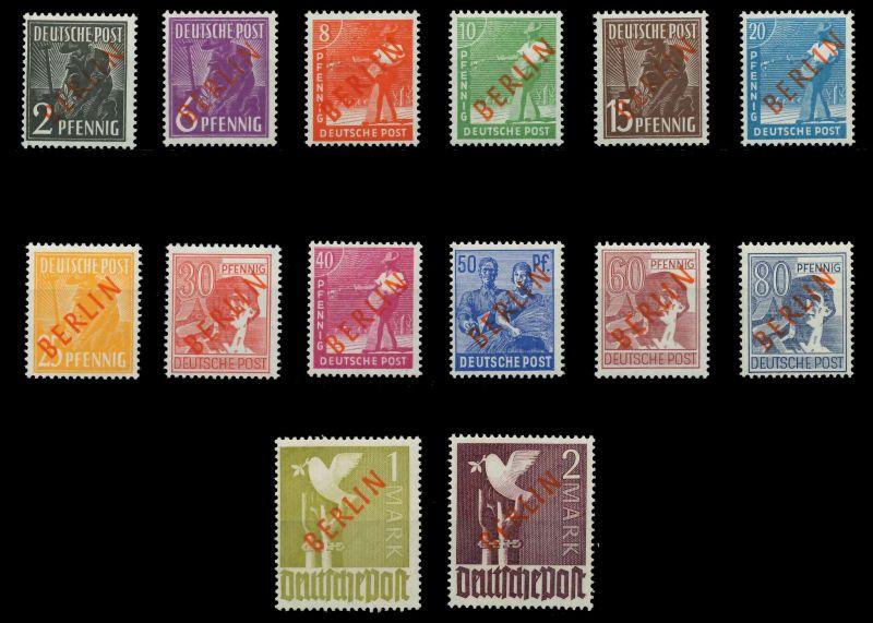 BERLIN 1949 Nr 21-34 postfrisch ATTEST 875E92