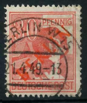 BERLIN 1949 Nr 28 zentrisch gestempelt 875EAE