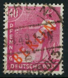 BERLIN 1949 Nr 29 zentrisch gestempelt 875EB6