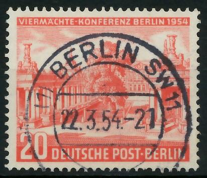 BERLIN 1954 Nr 116 zentrisch gestempelt 8778CE