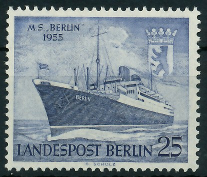 BERLIN 1955 Nr 127 postfrisch 8778DE