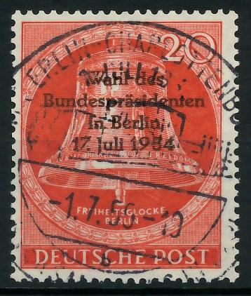 BERLIN 1954 Nr 118 zentrisch gestempelt 8778FE