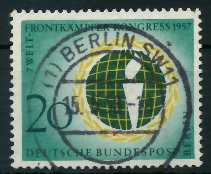 BERLIN 1957 Nr 177 zentrisch gestempelt 8779D6