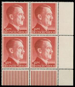 DEUTSCHES REICH 1941 Nr 801B postfrisch VIERERBLOCK ECK 877CD6