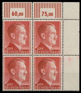 DEUTSCHES REICH 1941 Nr 801B postfrisch VIERERBLOCK ECK 877CE6