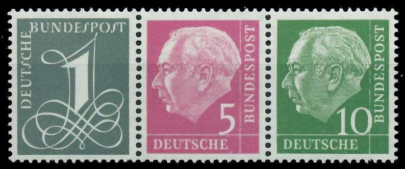 BRD ZUSAMMENDRUCK Nr W18YII postfrisch 3ER STR 877DF6