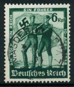DEUTSCHES REICH 1938 Nr 662 zentrisch gestempelt 87C2FE