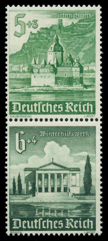 D-REICH ZUSAMMENDRUCK Nr S258 postfrisch SENKR PAAR 87C412