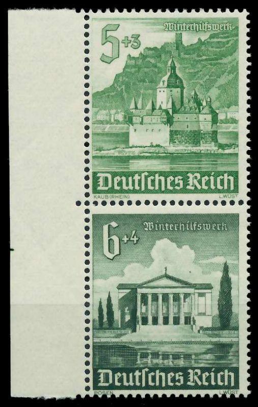 D-REICH ZUSAMMENDRUCK Nr S258 postfrisch SENKR PAAR 87C41E